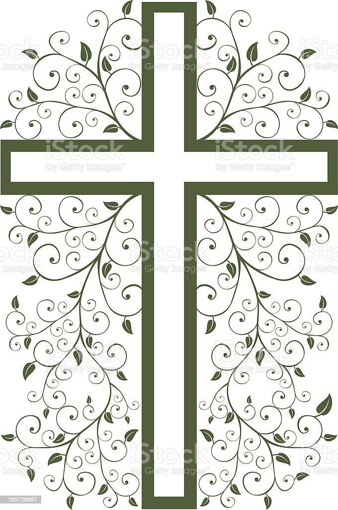Decorative Cross royalty-free stock vector art