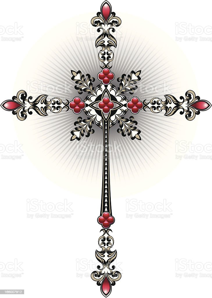 Decorative cross. royalty-free stock vector art