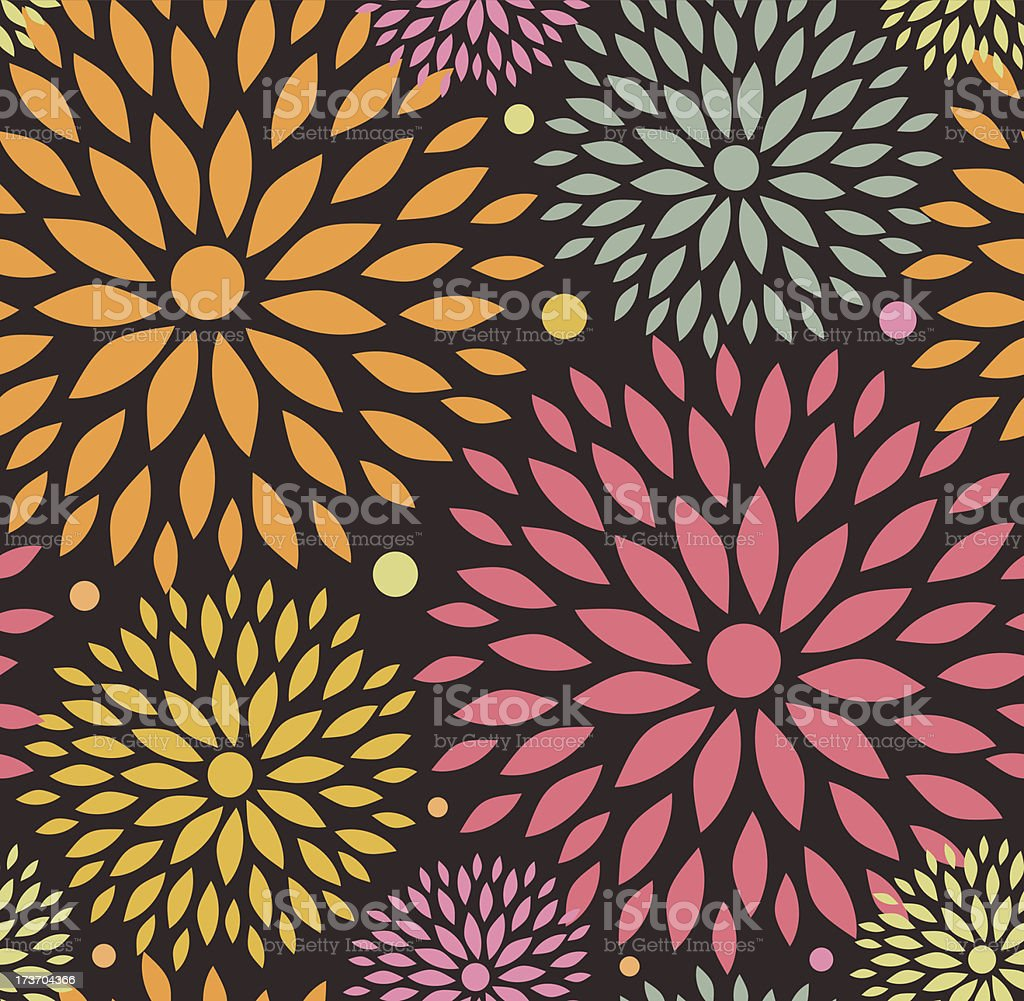 Decorative cute background with flowers royalty-free stock vector art