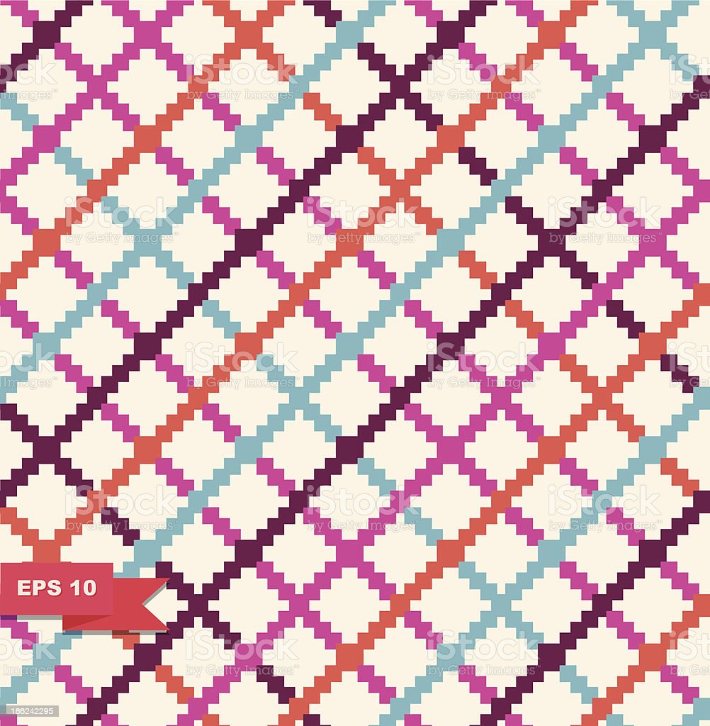 Decorative cute checkered pattern royalty-free stock vector art