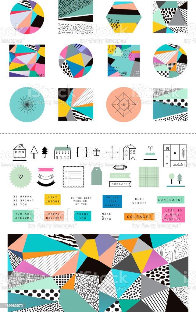 Decorative design collection vector art illustration