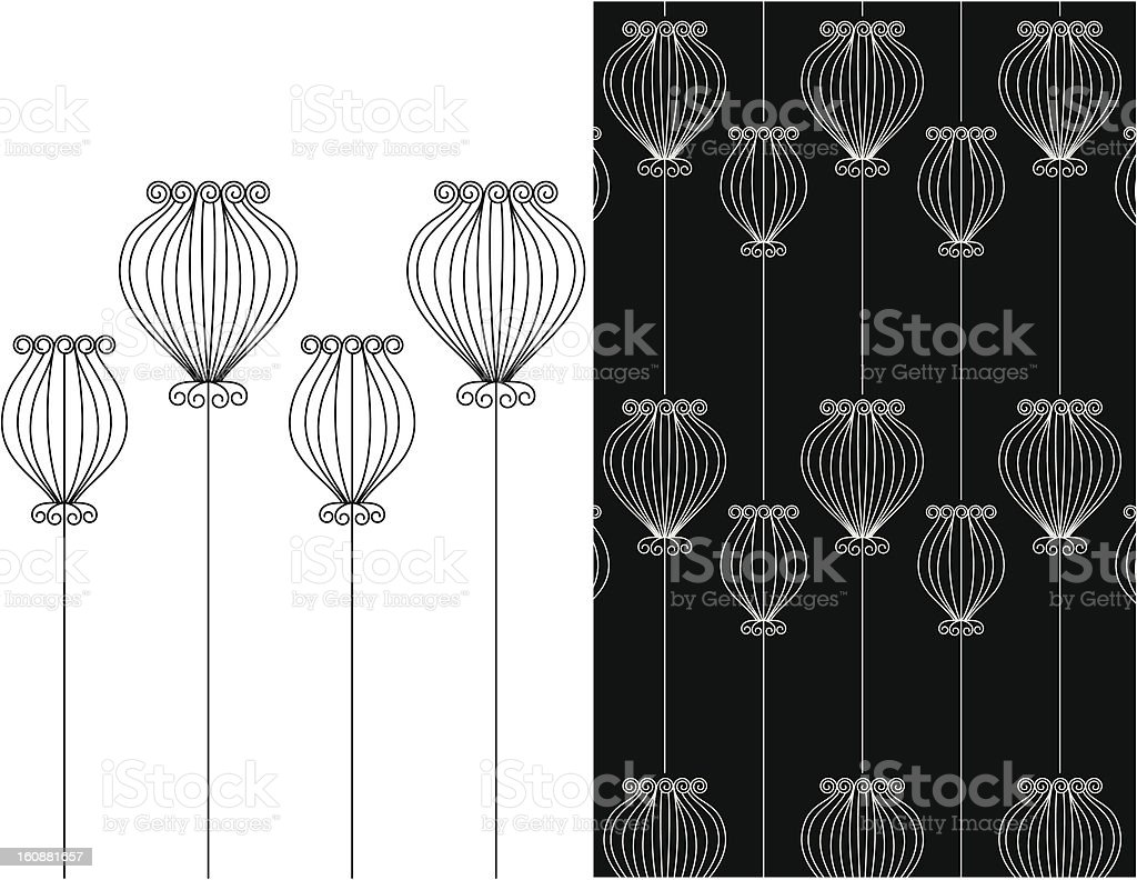 Decorative dill vector art illustration