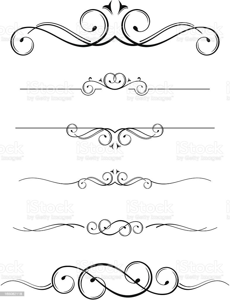 decorative line dividers vector