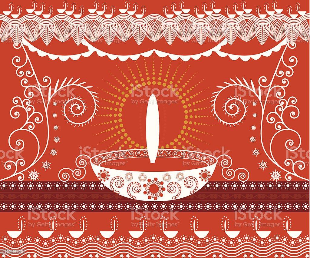 Decorative Diwali Background royalty-free stock photo
