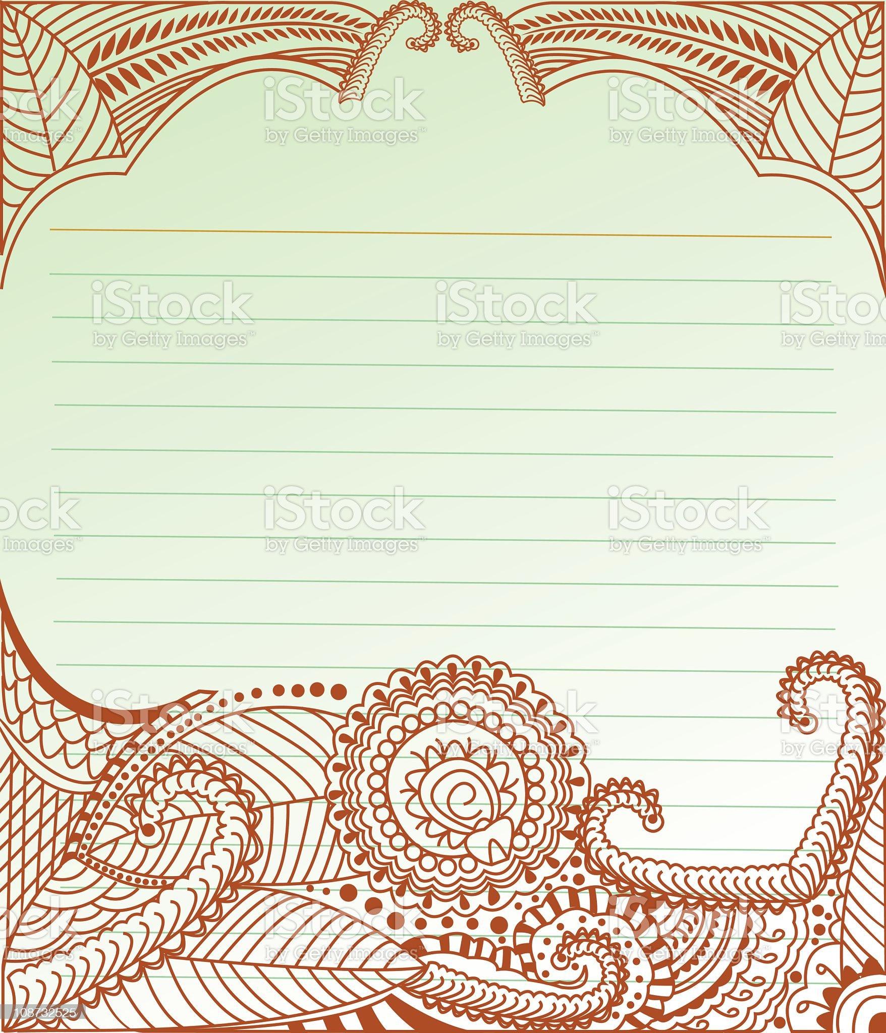 Decorative Doodle royalty-free stock vector art