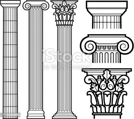 Колонны с рисунками