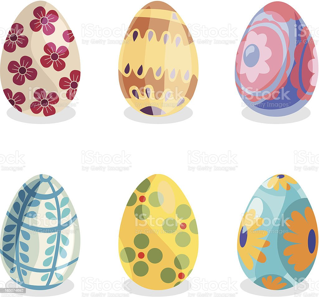 Decorative Easter Eggs royalty-free stock vector art