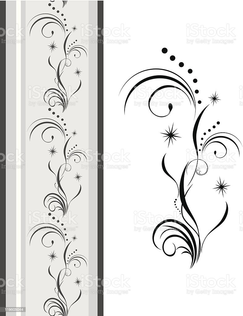 Decorative element for design of ribbon royalty-free stock vector art