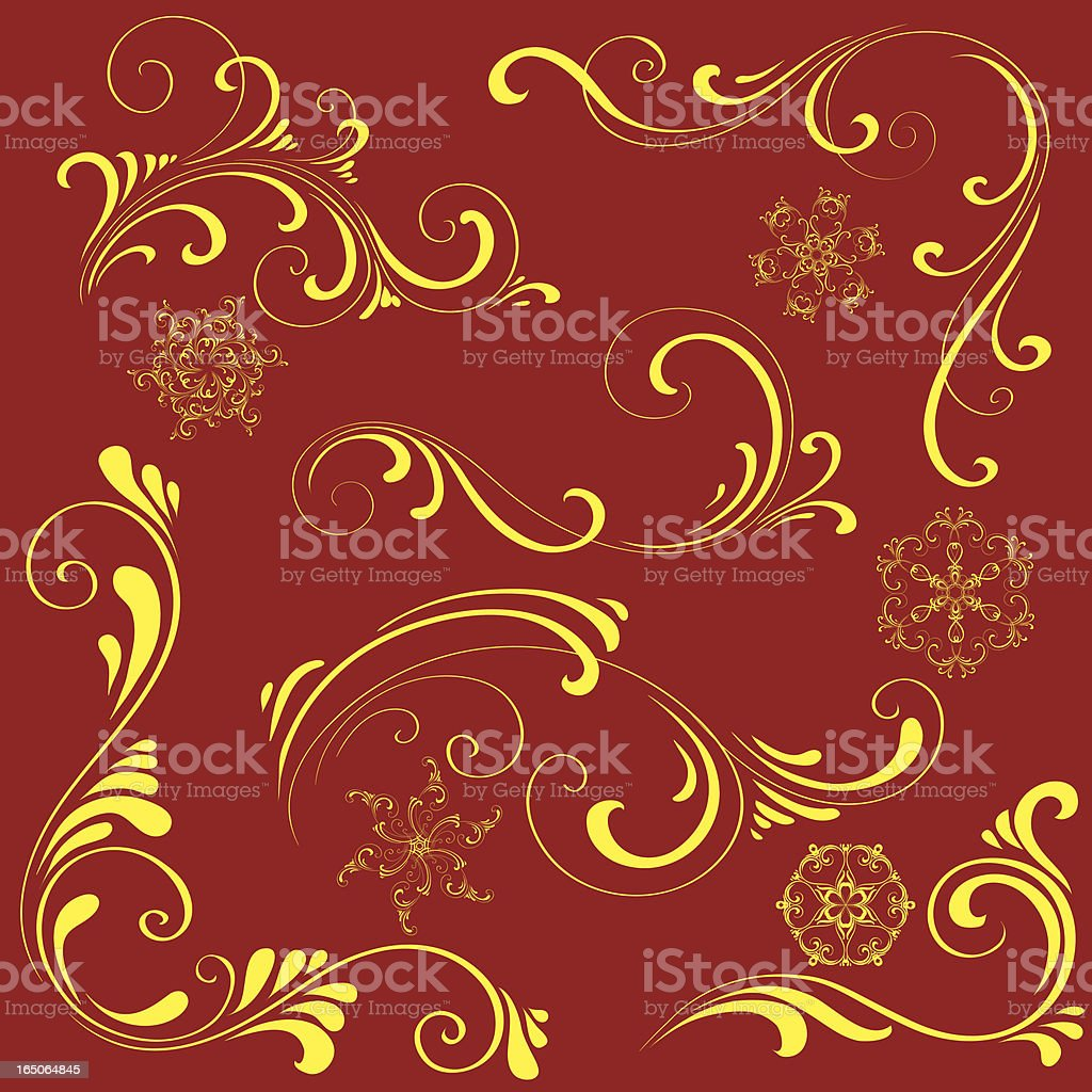 Decorative elements royalty-free stock vector art