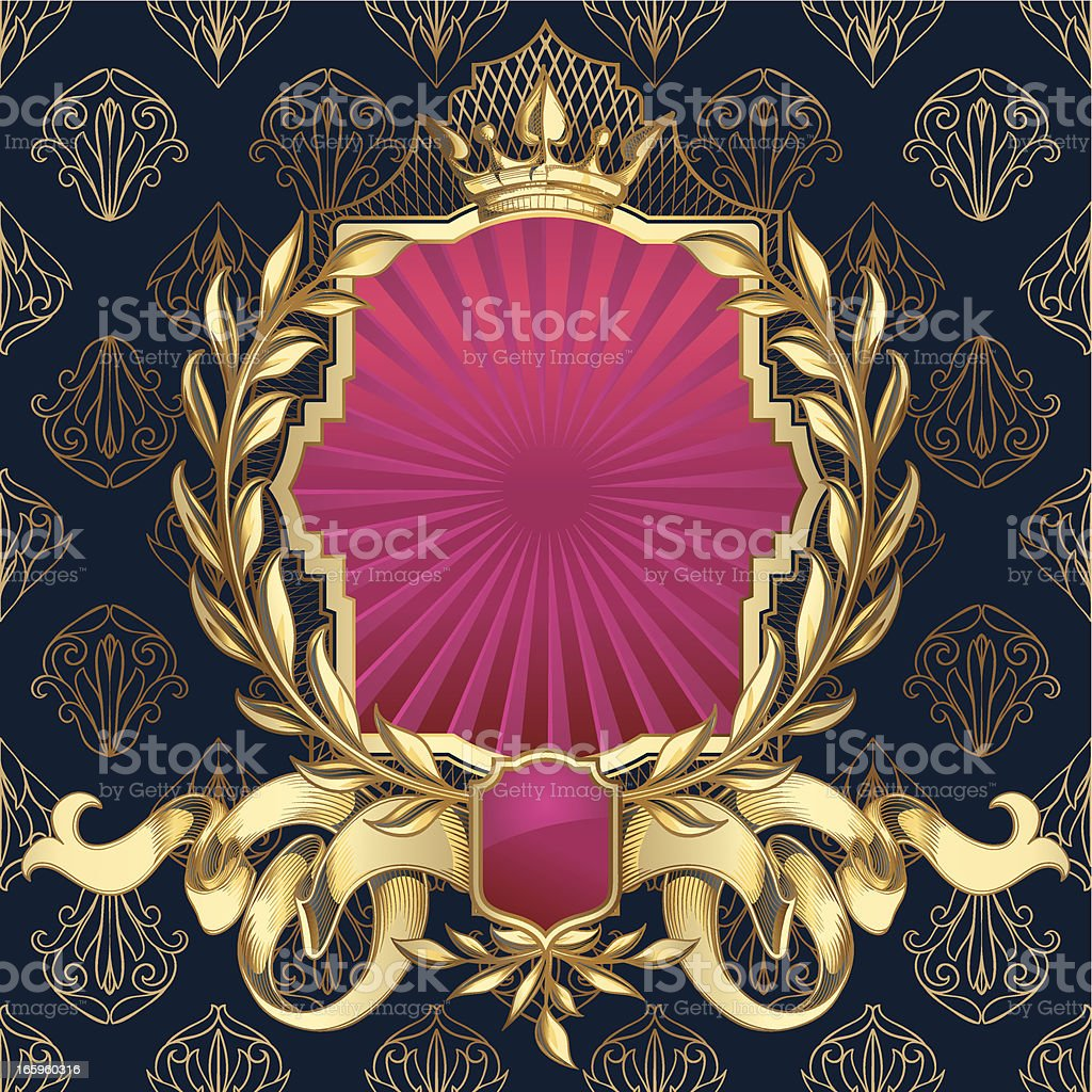 Decorative emblem royalty-free stock vector art