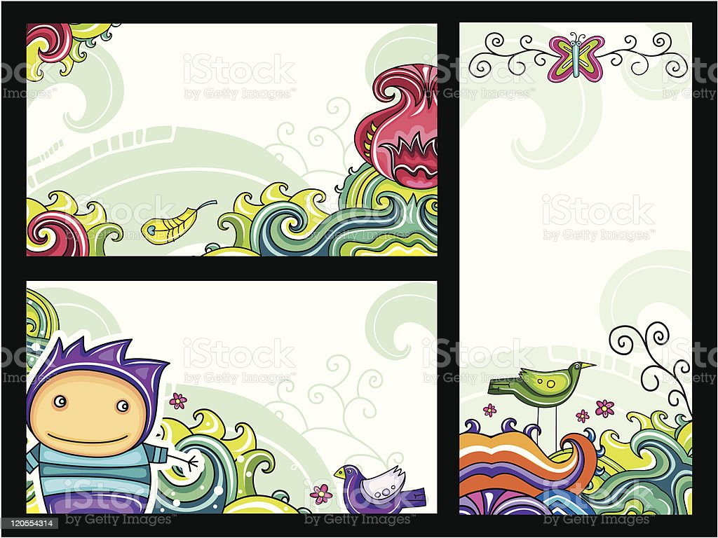 Decorative floral banners 1 royalty-free stock vector art