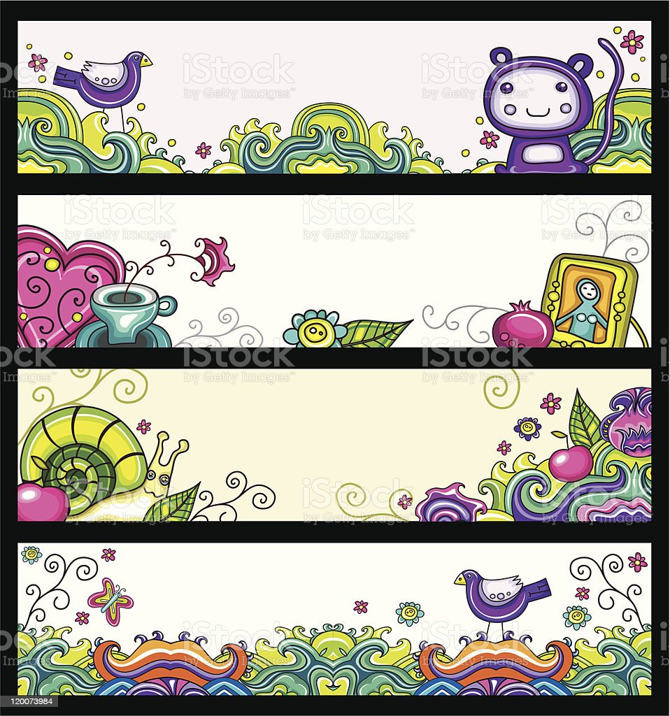 Decorative floral banners royalty-free stock vector art