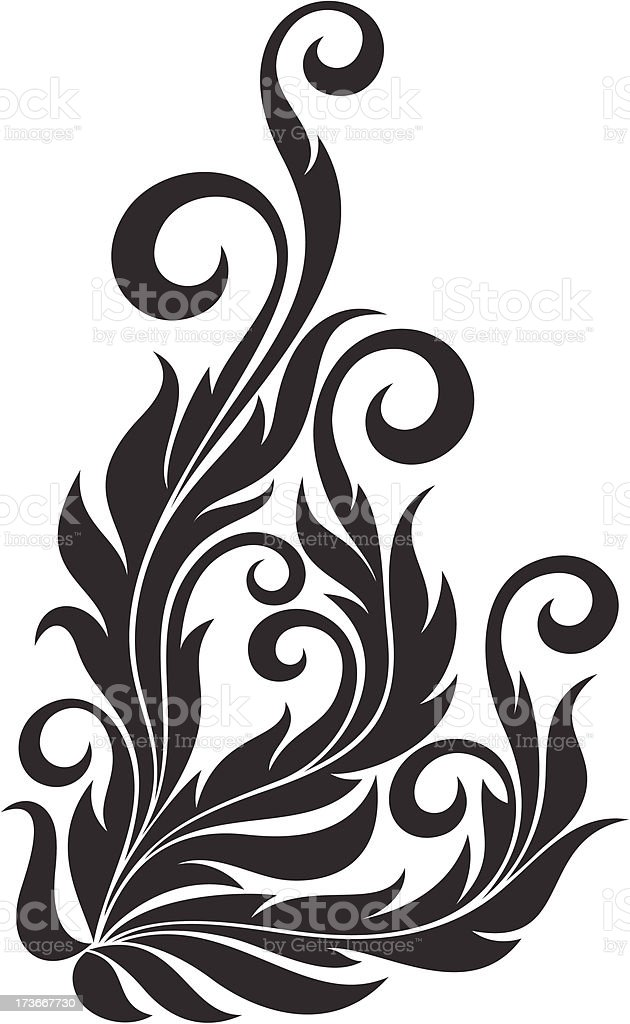 Decorative floral element royalty-free stock vector art
