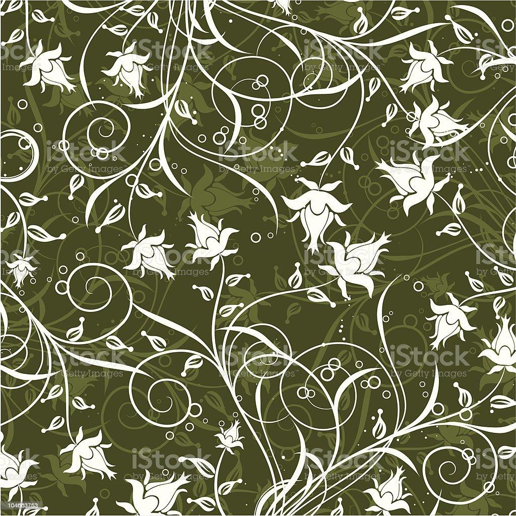Decorative floral pattern vector art illustration