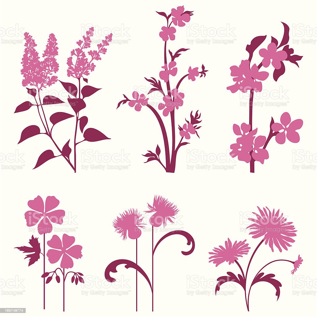 Decorative flowers royalty-free stock vector art
