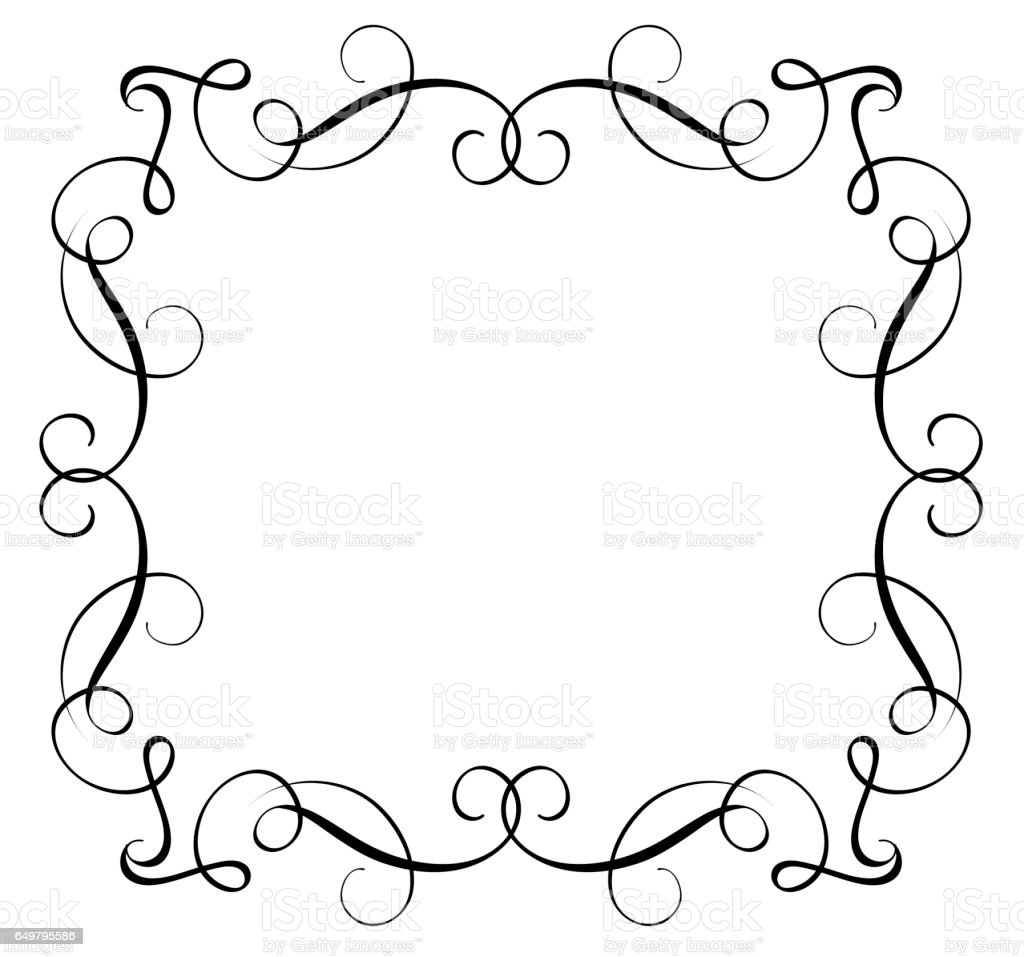 Decorative Frame and Borders Art. Calligraphy lettering Vector illustration EPS10 vector art illustration
