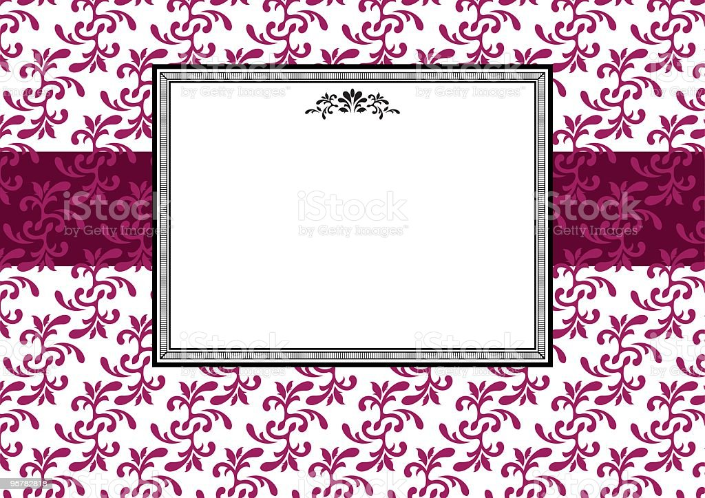 Decorative frame invitation template royalty-free stock vector art