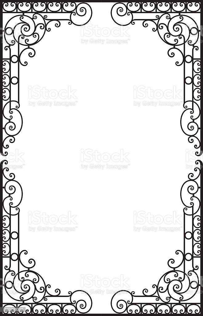 Decorative frame vector art illustration