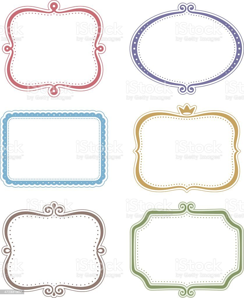 decorative frames set vector art illustration