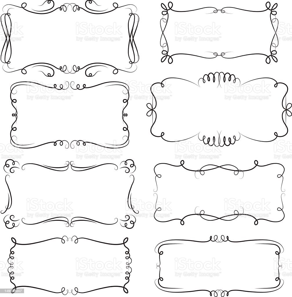 Decorative frames stock photo