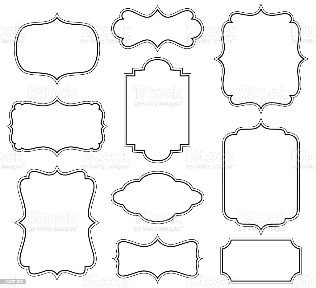Decorative frames vector art illustration