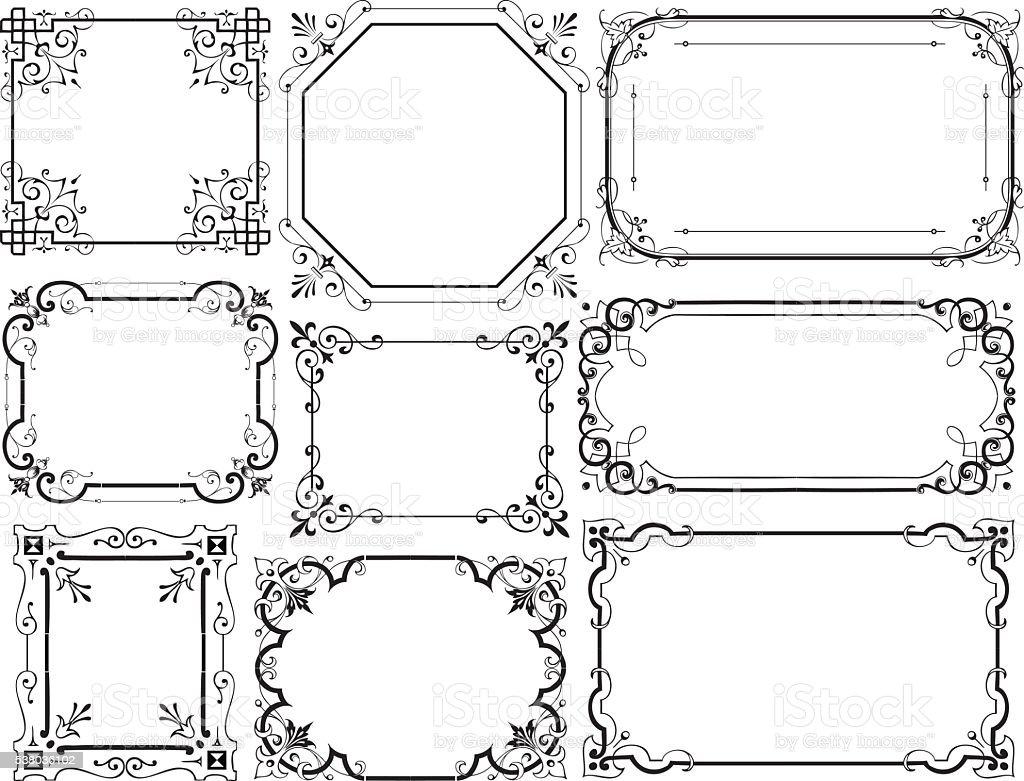 Decorative frames vector art illustration