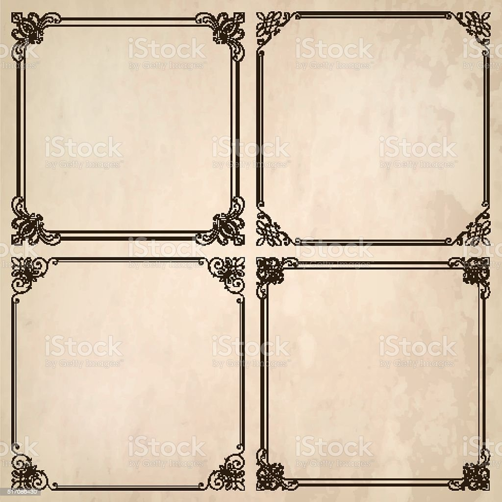 Decorative Frames With Paper Texture vector art illustration