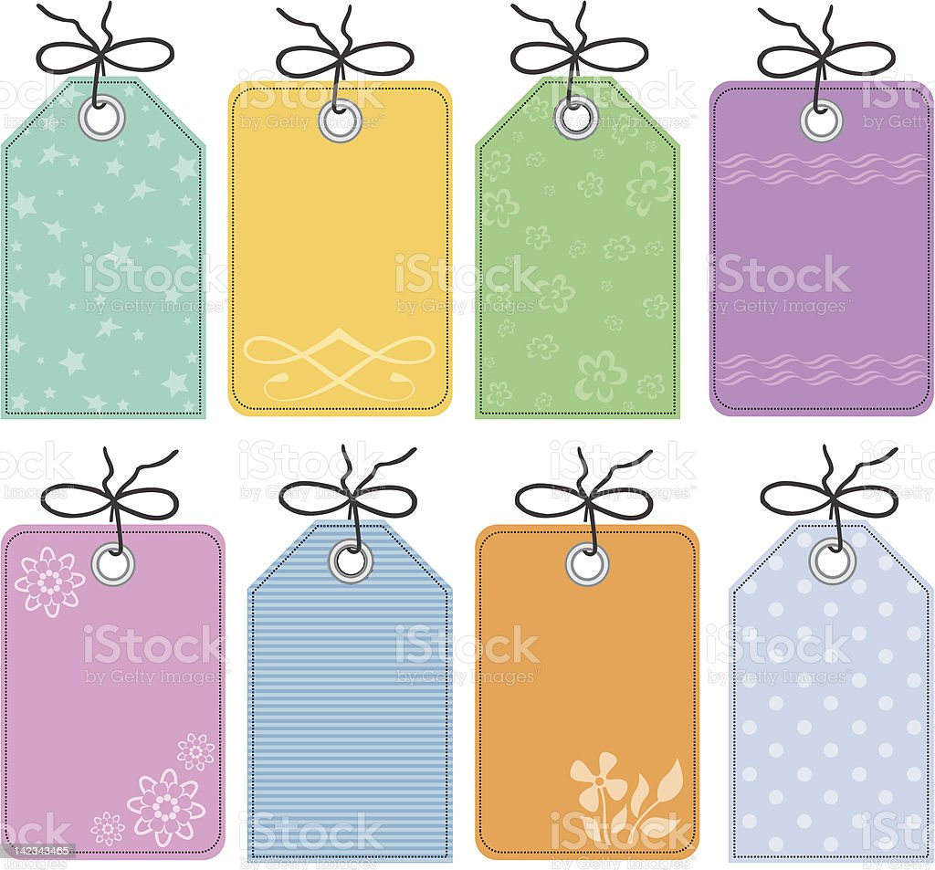 decorative gift tags royalty-free stock vector art