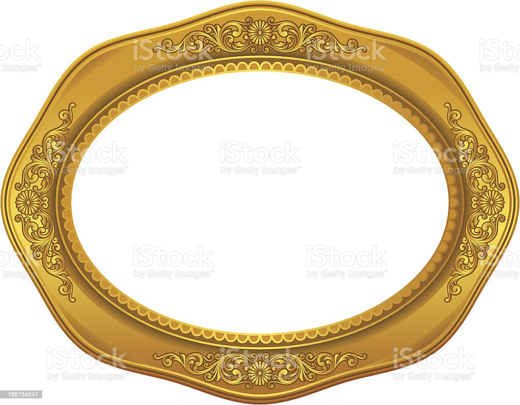 Decorative Golden Frame royalty-free stock vector art