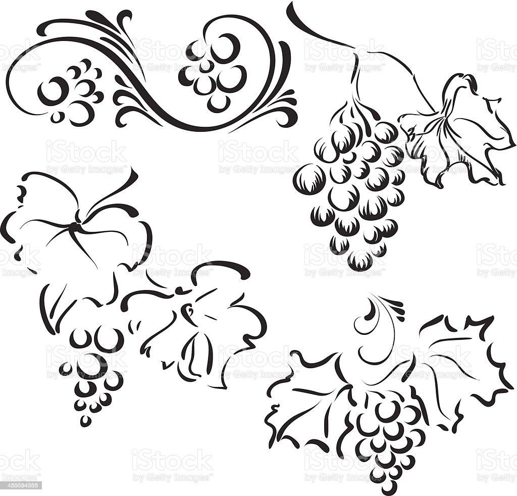 Decorative grape royalty-free stock vector art