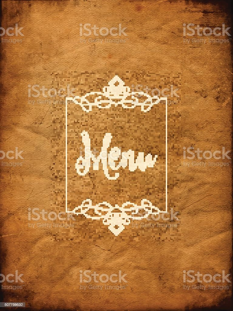 Decorative grunge menu background vector art illustration