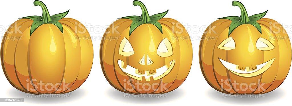 decorative haloween celebrate magic pumpkin vector art illustration