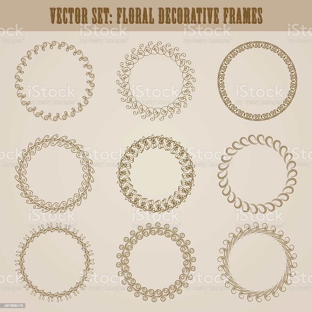 decorative hand drawn elements vector art illustration