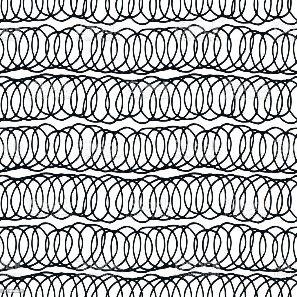 Decorative hand drawn seamless pattern. vector art illustration