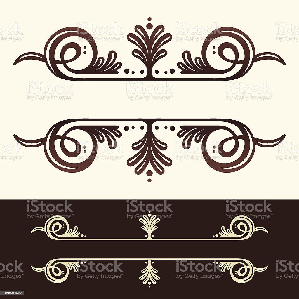Decorative Header Ornament royalty-free stock vector art