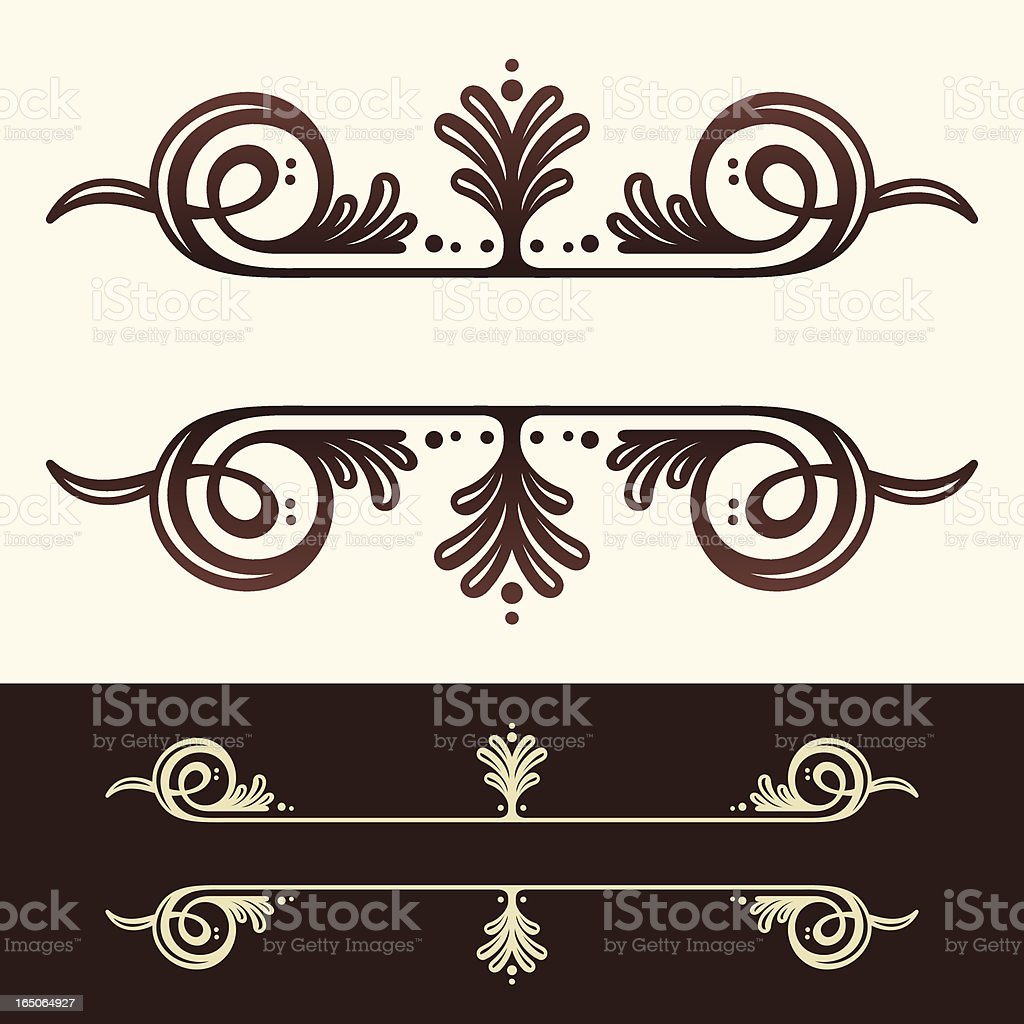 Decorative Header Ornament vector art illustration