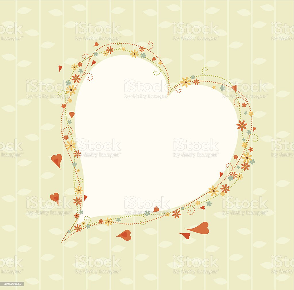 Decorative heart border royalty-free stock vector art