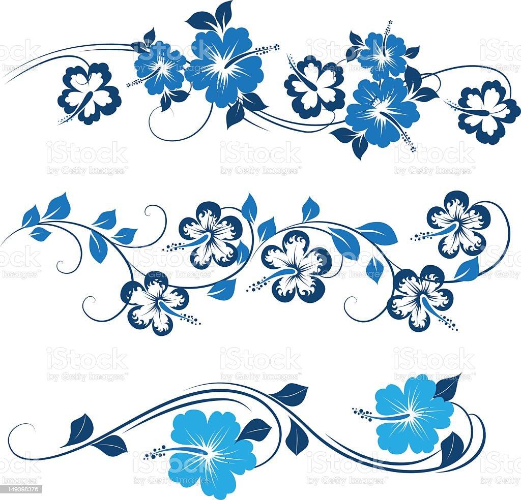 Decorative hibiscus stock photo