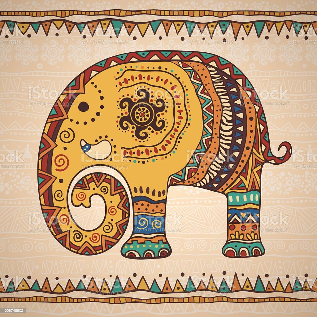 Decorative illustration elephant vector art illustration