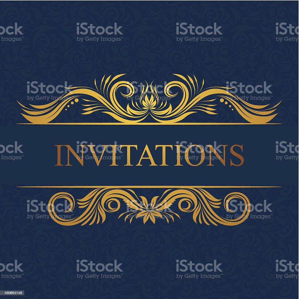 Decorative Invitations Card royalty-free stock vector art