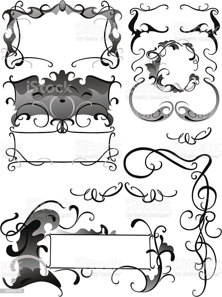 Decorative items royalty-free stock vector art