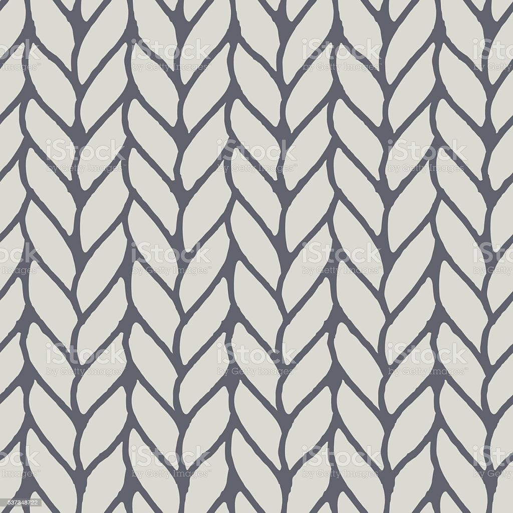 Decorative knitting braids seamless pattern. vector art illustration