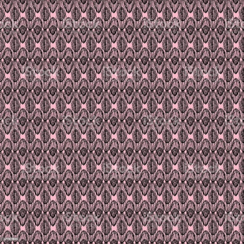 Decorative lace seamless texture vector art illustration