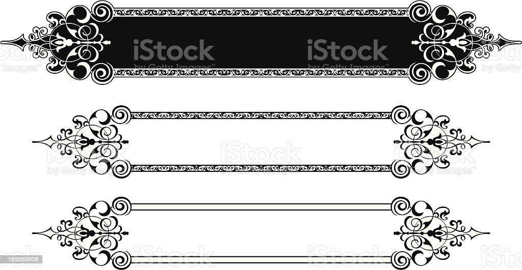 Decorative Lettering Panel Deign royalty-free stock vector art