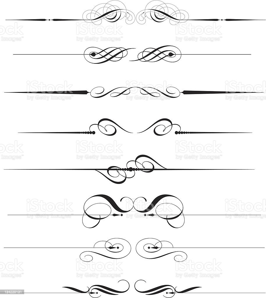 Decorative line royalty-free stock vector art