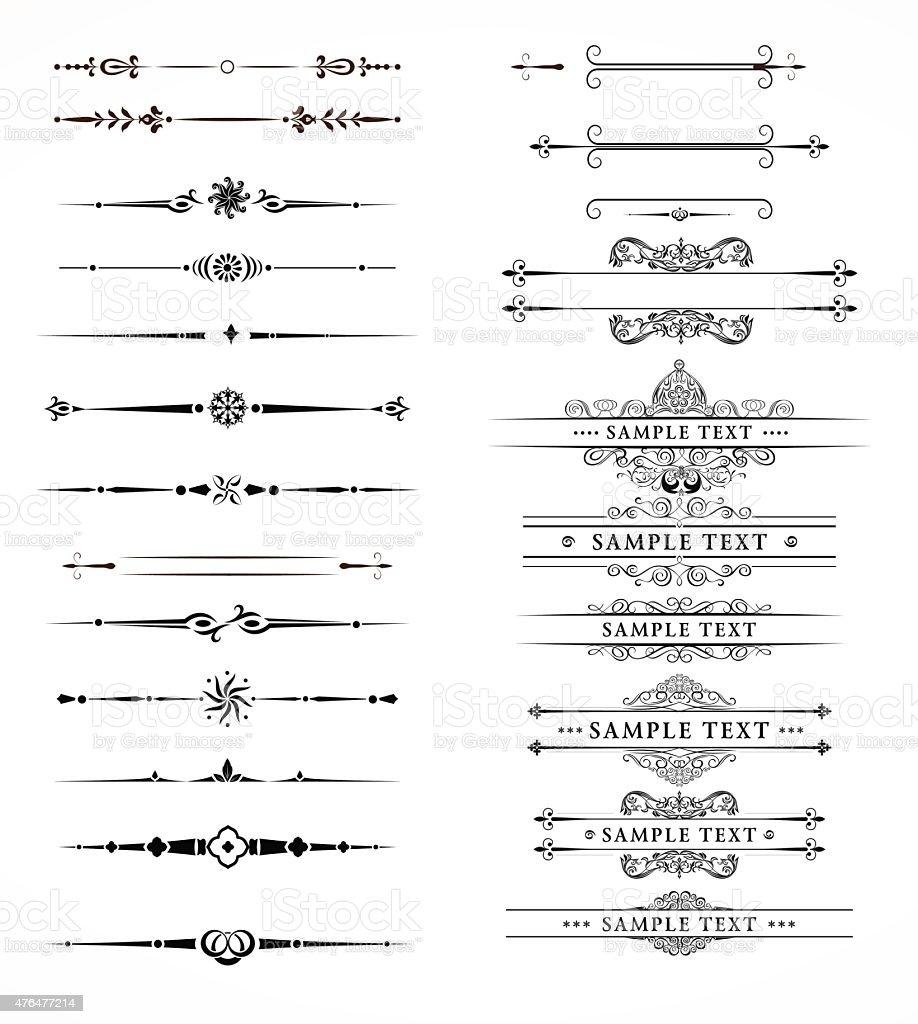 Single Line Text Art : Decorative lines stock vector art istock