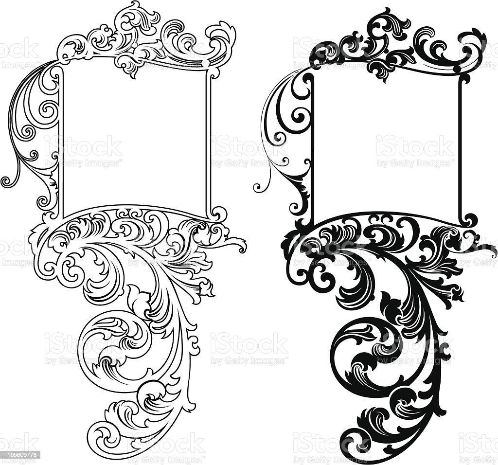 Decorative Menu Panels royalty-free stock vector art