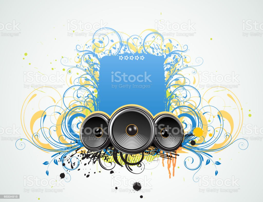 Decorative music frame royalty-free stock vector art