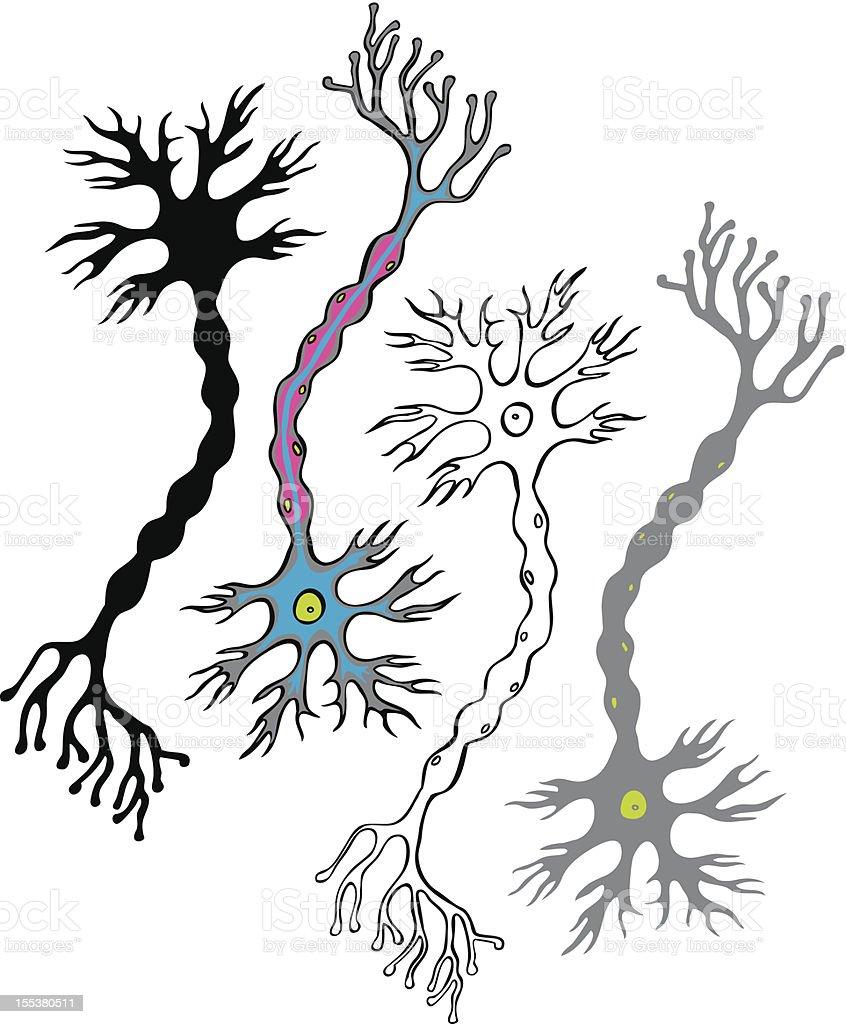 Decorative neurons royalty-free stock vector art
