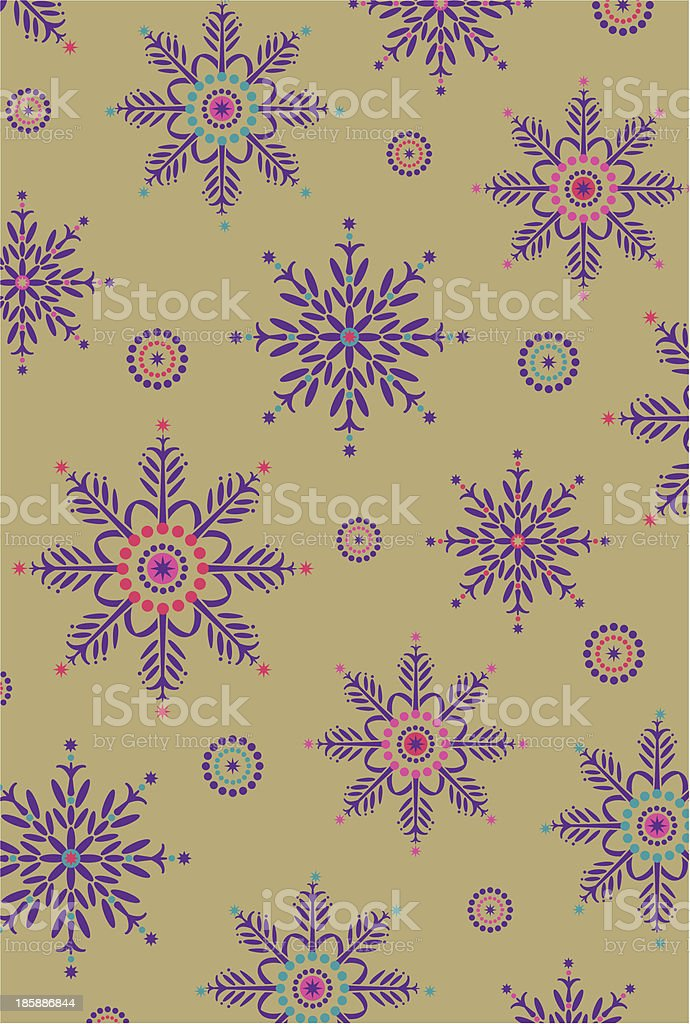 Decorative Opulent Snowflake Pattern royalty-free stock vector art